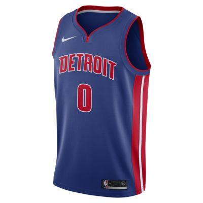 Maillot connecté Nike NBA Andre Drummond Icon Edition Swingman (Detroit Pistons) pour Homme