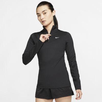 Nike Pro overdel med halv glidelås til dame