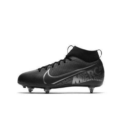 Calzado de fútbol para terreno suave para niños talla pequeña/grande Nike Jr. Mercurial Superfly 7 Academy SG