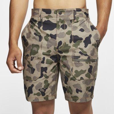 Shorts de actividad intensa de 48 cm con estampado de camuflaje para hombre Hurley x Carhartt