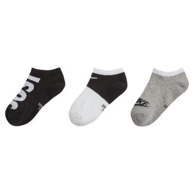 Nike Dri-FIT Little Kids' JDI No-Show Socks (3 Pairs)