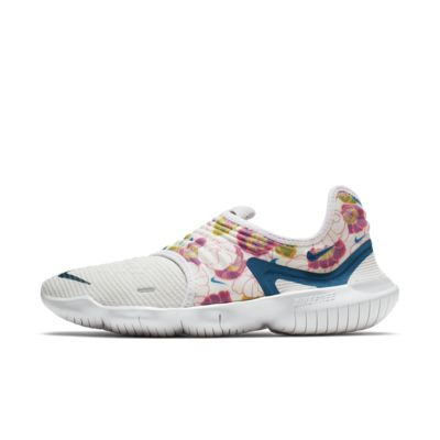 Купить Женские беговые кроссовки Nike Free RN Flyknit 3.0, Белый/Оранжевый лазер/Невероятный розовый/Зеленая бездна, 22905533, 12553857