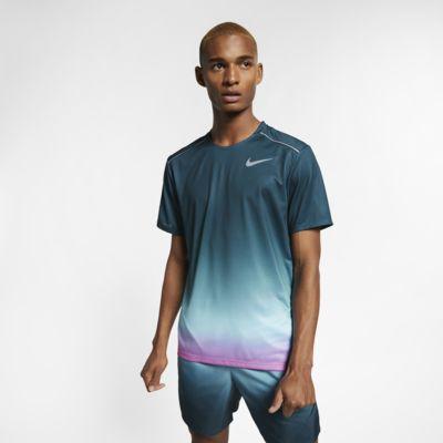 Nike Dri-FIT Miler Kurzarm-Laufoberteil mit Print für Herren