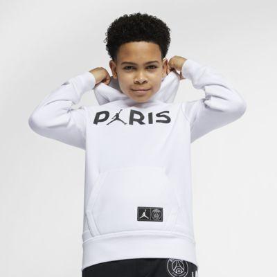 Hoodie pullover de lã cardada PSG Júnior (Rapaz)