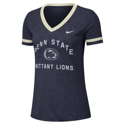 Nike College Dri-FIT Fan (Penn State) Women's Short-Sleeve V-Neck Top