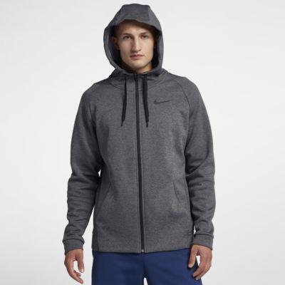 Huvtröja för träning med hel dragkedja Nike Dri-FIT Therma för män