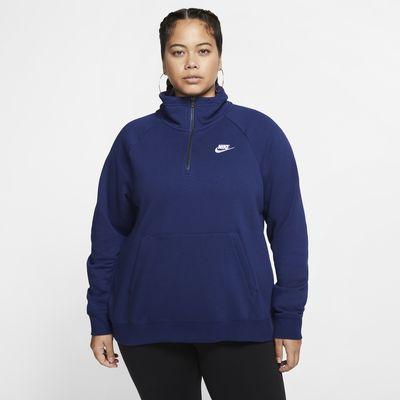 Nike Sportswear Essential Women's 1/4-Zip Fleece Top (Plus Size)