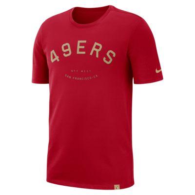 Nike Arch (NFL 49ers) Men's Heavyweight T-Shirt