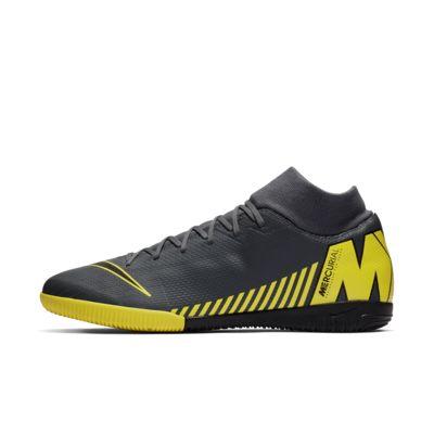 Купить Футбольные бутсы для игры в зале/на крытом поле Nike SuperflyX 6 Academy IC, Темно-серый/Opti Yellow/Черный, 22588832, 12480918