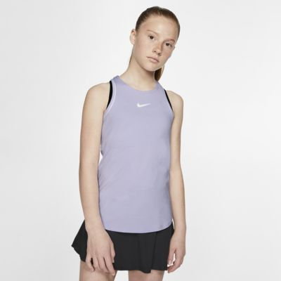 NikeCourt Dri-FIT tennissinglet til store barn (jente)
