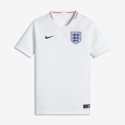 Camiseta de fútbol para niños talla grande 2018 England Stadium Home