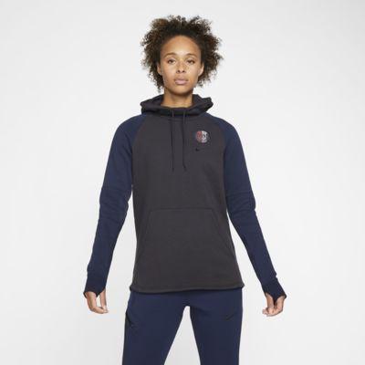 Sweat à capuche en tissu Fleece Paris Saint-Germain pour Femme