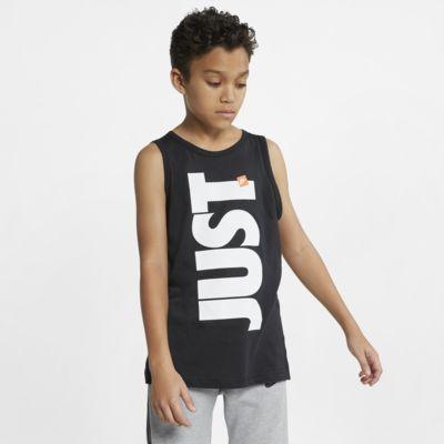 Camiseta de tirantes para niños talla grande Nike Sportswear Just Do It