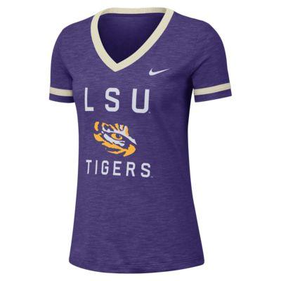Nike College Dri-FIT Fan (LSU) Women's Short-Sleeve V-Neck Top