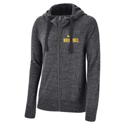 Nike College Gym Vintage (Michigan) Women's Full-Zip Hoodie