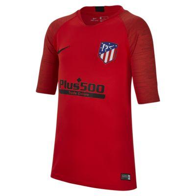 Prenda para la parte superior de fútbol de manga corta para niño talla grande Nike Breathe Atlético de Madrid Strike