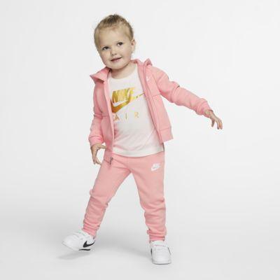 2-delt Nike-sæt med hættetrøje og joggingbukser til småbørn