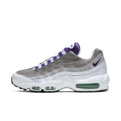 Купить Мужские кроссовки Nike Air Max 95 LV8, Белый/Изумрудно-зеленый/Темно-серый/Королевский пурпур, 23192390, 12626803