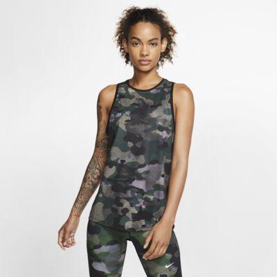 Nike Dri-FIT Camiseta de tirantes de entrenamiento con estampado de camuflaje - Mujer
