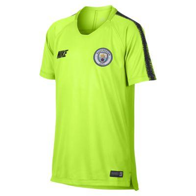 Ποδοσφαιρική μπλούζα Manchester City FC Breathe Squad για μεγάλα παιδιά