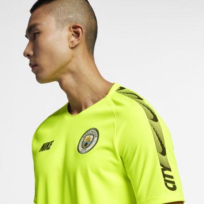 Top de fútbol para hombre Manchester City FC Breathe Squad