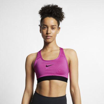 สปอร์ตบราผู้หญิงซัพพอร์ตระดับกลาง Nike Classic Padded
