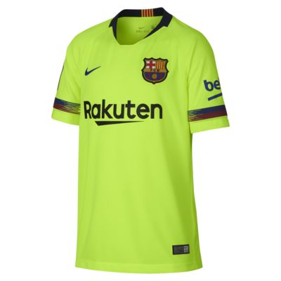 2018/19 FC Barcelona Stadium Away Older Kids' Football Shirt