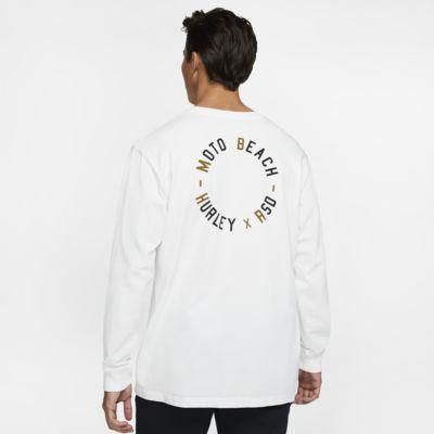 Hurley x Roland Sands Moto Beach Uzun Kollu Erkek Tişörtü