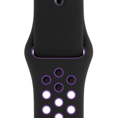 Nike Sport Band — Zwart/Hyper Grape (40 mm, S/M en M/L)