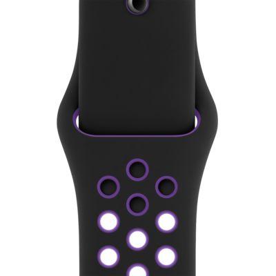 Sportovní řemínek Nike (S/M a M/L) v barevné kombinaci čená a hyperfialová 40 mm