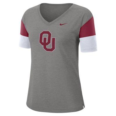 Nike College Breathe (Oklahoma) Women's Short-Sleeve V-Neck Top