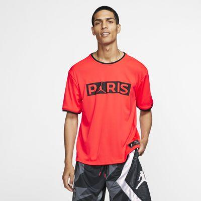 Paris Saint-Germain 男款短袖跑步上衣