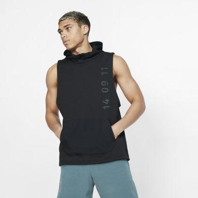 Męska koszulka treningowa z kapturem bez rękawów Nike Therma Tech Pack