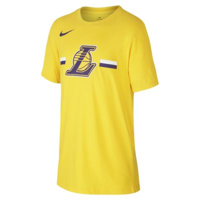 T-shirt dla dużych dzieci NBA Los Angeles Lakers Nike Dri-FIT