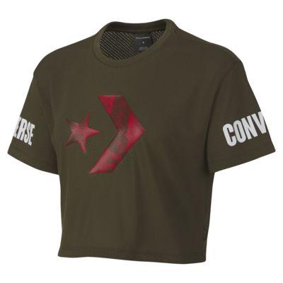 Converse Floral Fill Star Chevron Mesh Easy Women's Crop T-Shirt