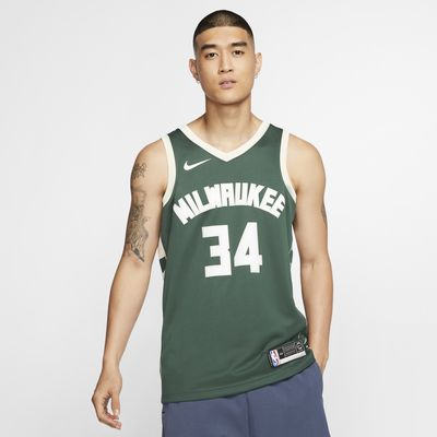 Maillot connecté Nike NBA Giannis Antetokounmpo Icon Edition Swingman (Milwaukee Bucks) pour Homme