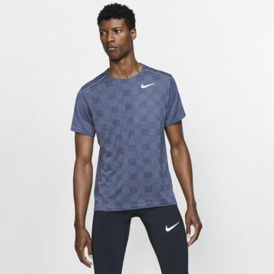 Prenda superior tejida de running de manga corta para hombre Nike Dri-FIT Miler