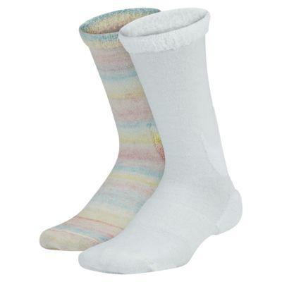 Nike Swoosh Big Kids' Crew Socks (2 Pairs)