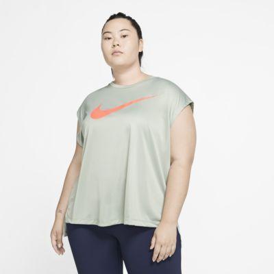 Nike Dri-FIT Damen-Laufoberteil mit Grafik (große Größe)