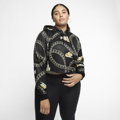 Nike Sportswear Icon Clash Women's Printed Crop Hoodie (Plus Size)