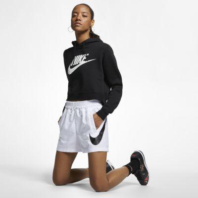 Shorts i vävt tyg Nike Sportswear Swoosh för kvinnor
