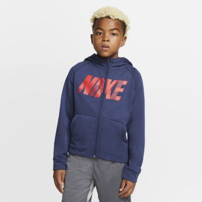 Nike Dri-FIT Older Kids' Full-Zip Graphic Training Hoodie