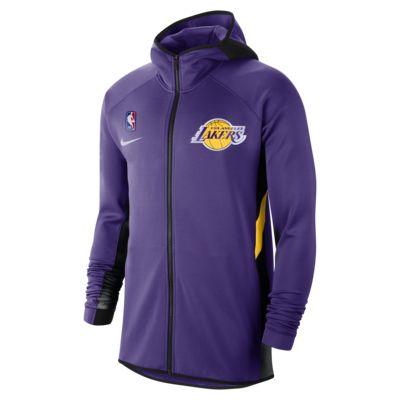 Sweat à capuche NBA Los Angeles Lakers Nike Therma Flex Showtime pour Homme