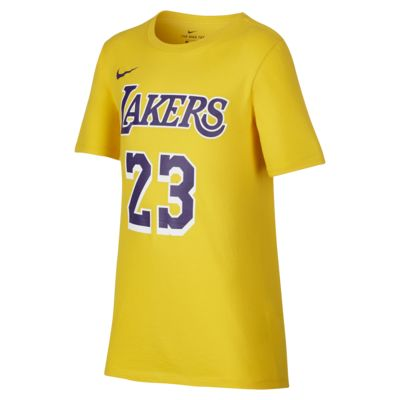 Los Angeles Lakers Nike Dri-FIT-NBA-T-shirt til store børn