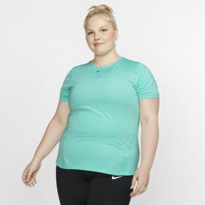 Γυναικεία μπλούζα από διχτυωτό υλικό Nike Pro (μεγάλα μεγέθη)