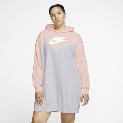 Sukienka damska z kapturem Nike Sportswear Heritage (duże rozmiary)