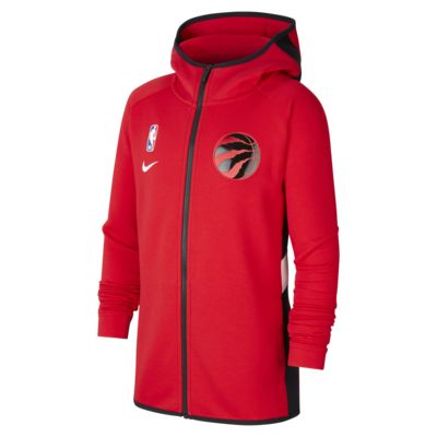 Sweat à capuche NBA Nike Dri-FIT Raptors Showtime pour Enfant plus âgé