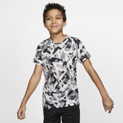 Kortærmet Nike Pro-overdel med print til drenge