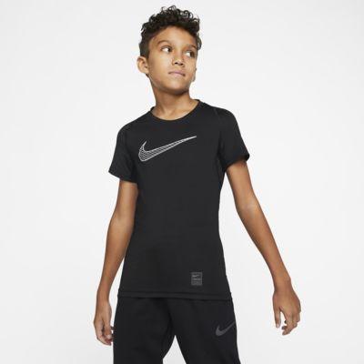 Haut de training à manches courtes Nike Pro pour Garçon plus âgé