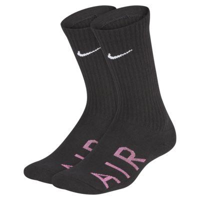 Nike Cushioned Crew sokken met Swoosh voor kids (2 paar)
